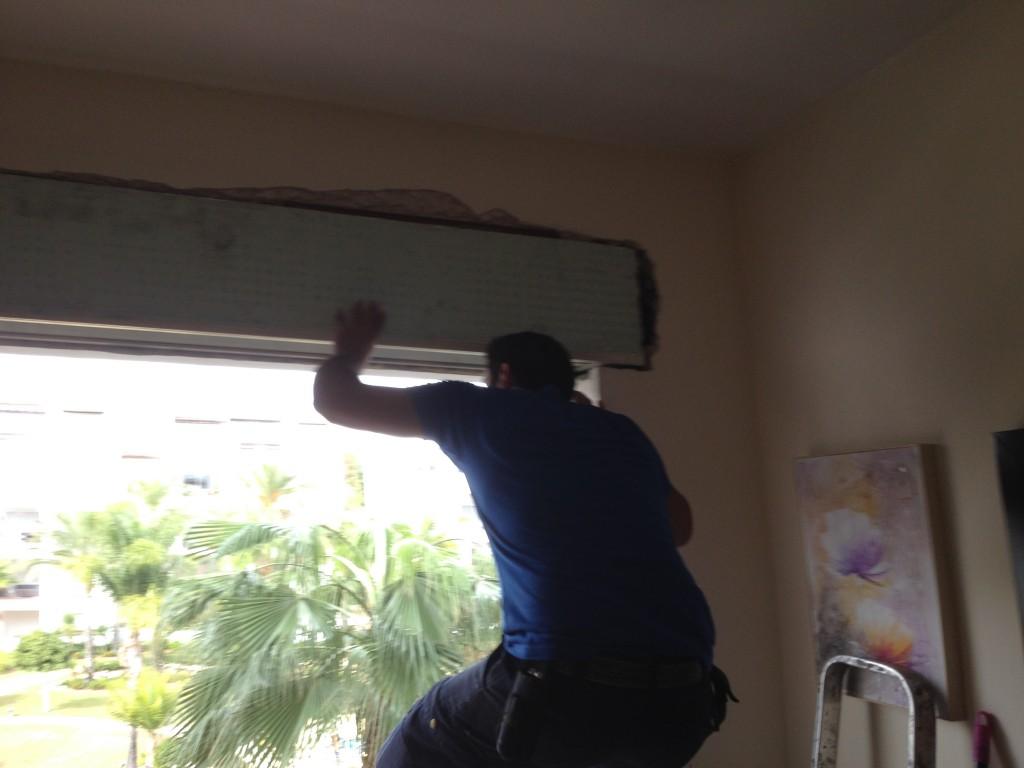 Colocación de persianas en obra