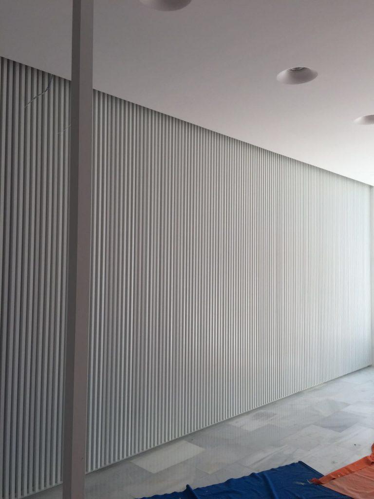 Estructura de tubos de aluminio
